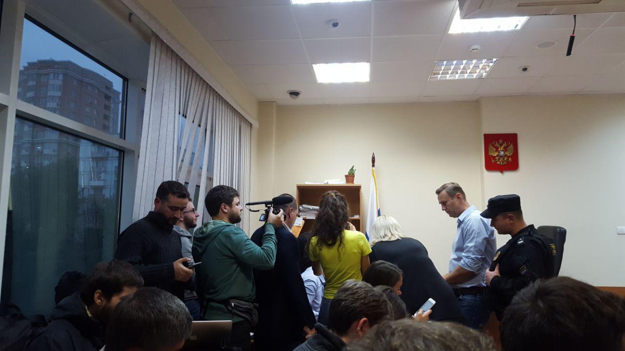 Навальный в Симоновском суде. 2 октября 2017