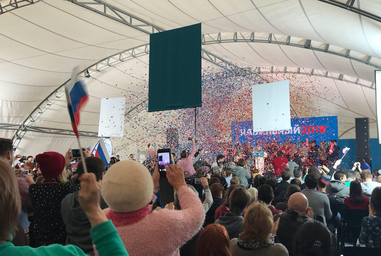 Завершение собрания избирателей Навального в Москве