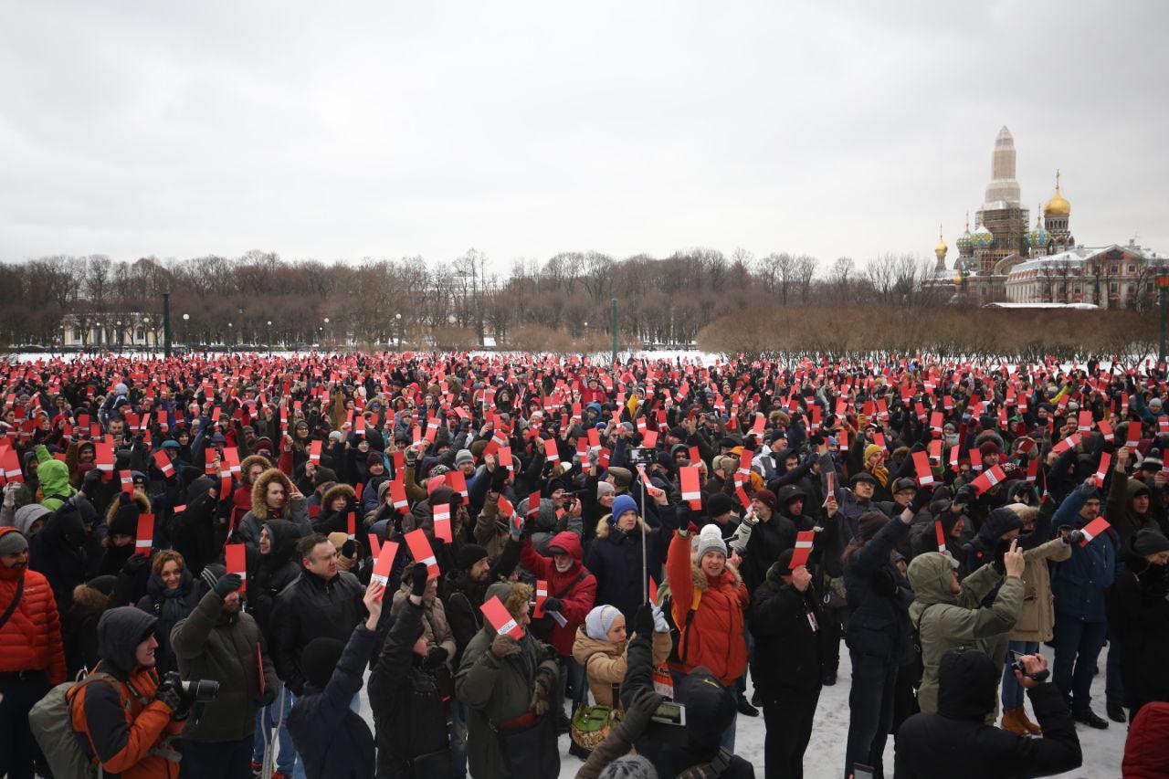 Собрание избирателей Навального в Петербурге