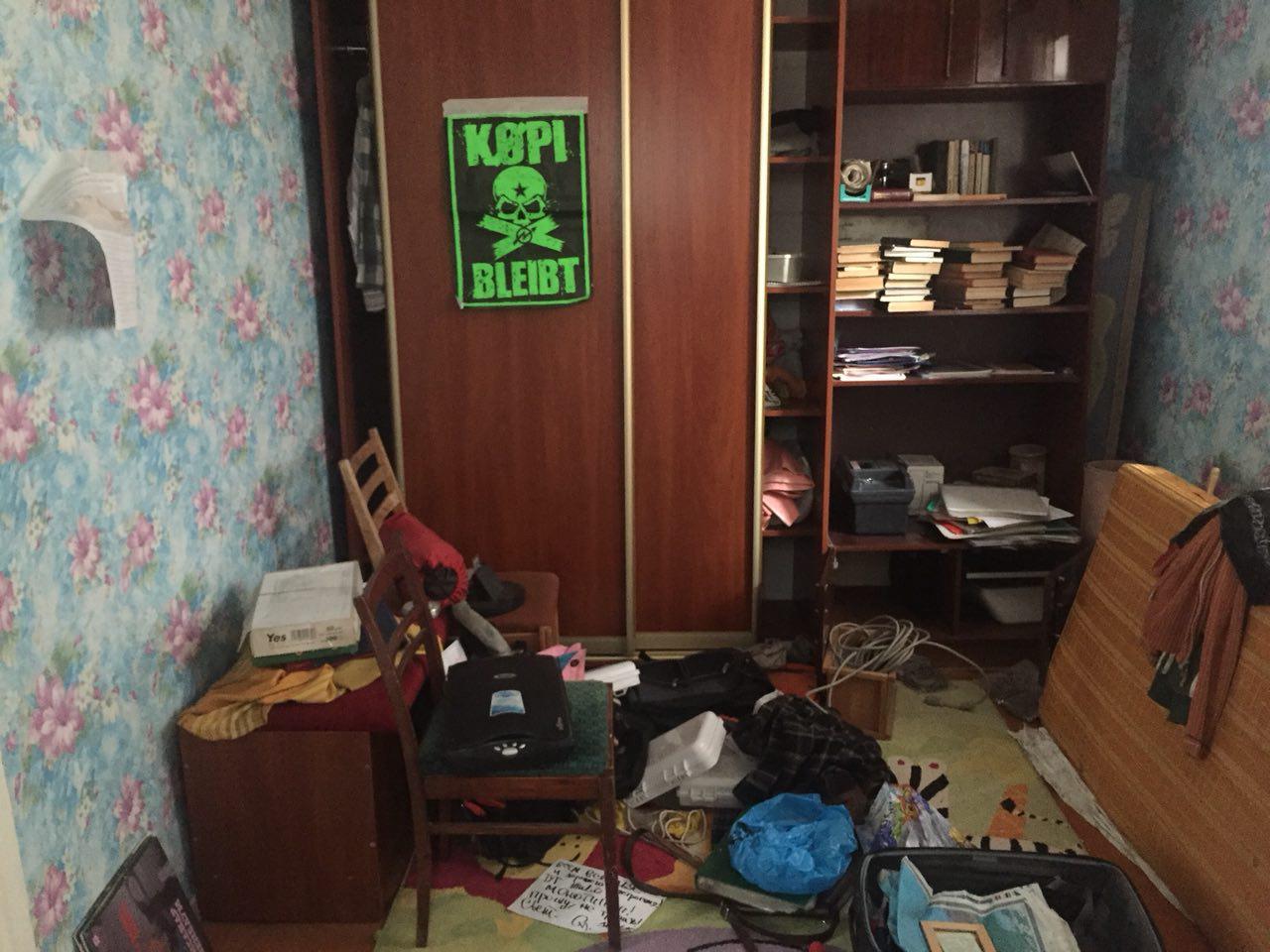 Квартира Шестаковича после обыска