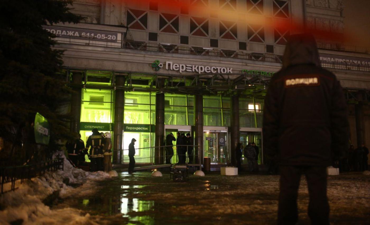 Взрыв в магазине Перекресток в Санкт-Петербурге привел к пострадавшим