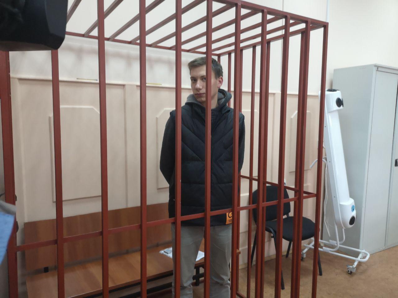 Валерий Костенок в Басманном суде. Фото: Анна Козкина